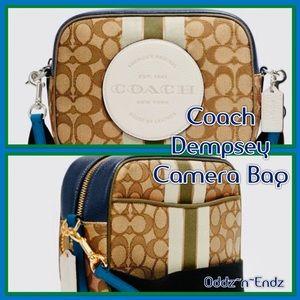 Coach Dempsey Camera Bag In Signature Jacquard!